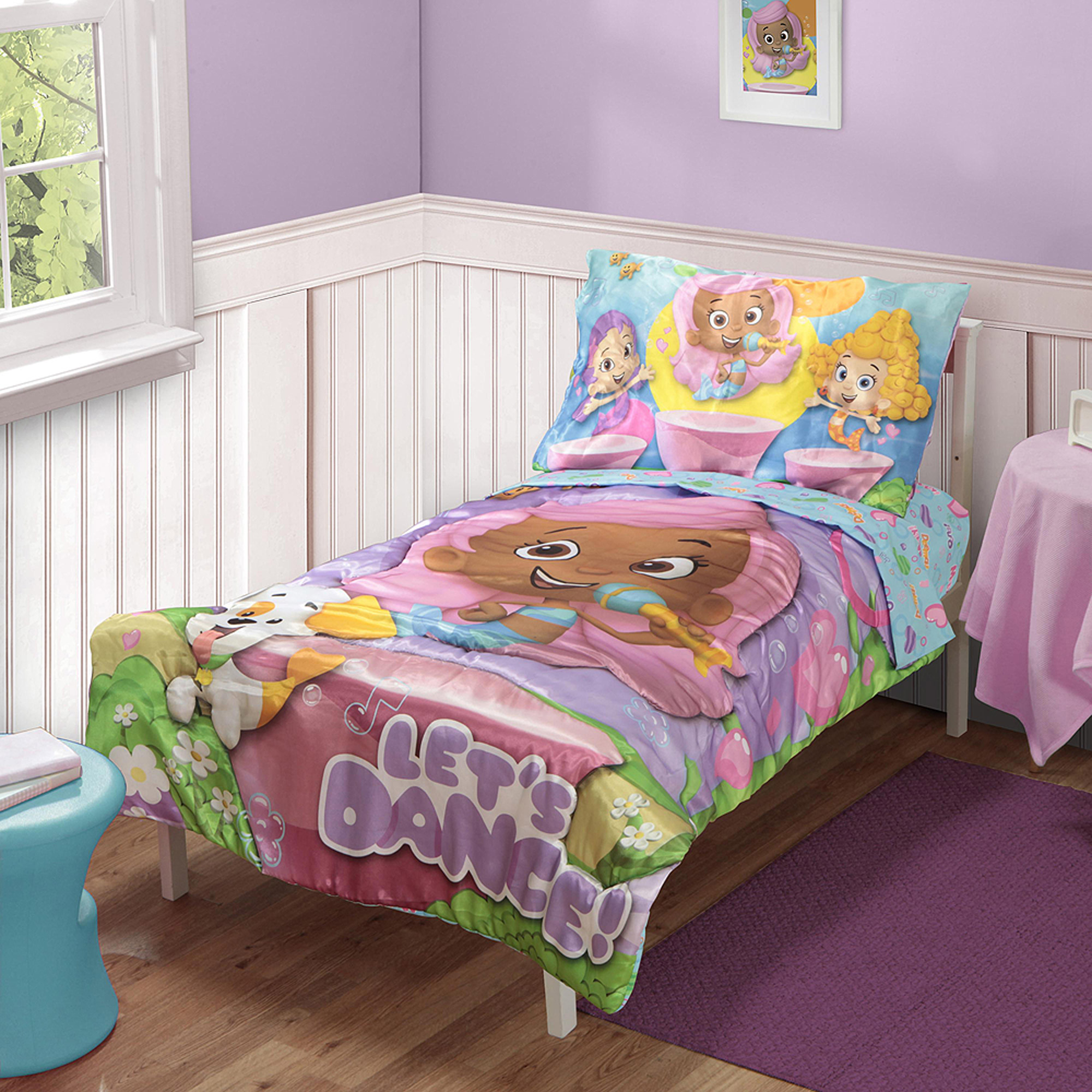 Bubble Guppies 4 pc Toddler Bedding Set