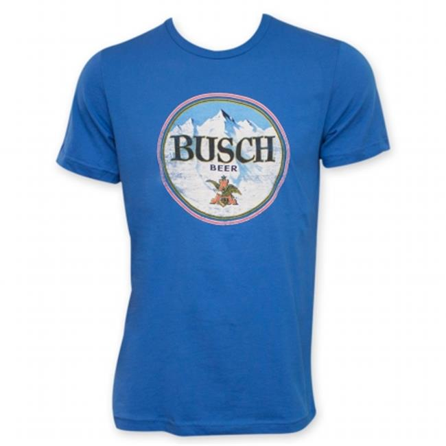 Busch 24271L Beer Retro Circle Logo T-Shirt, Large