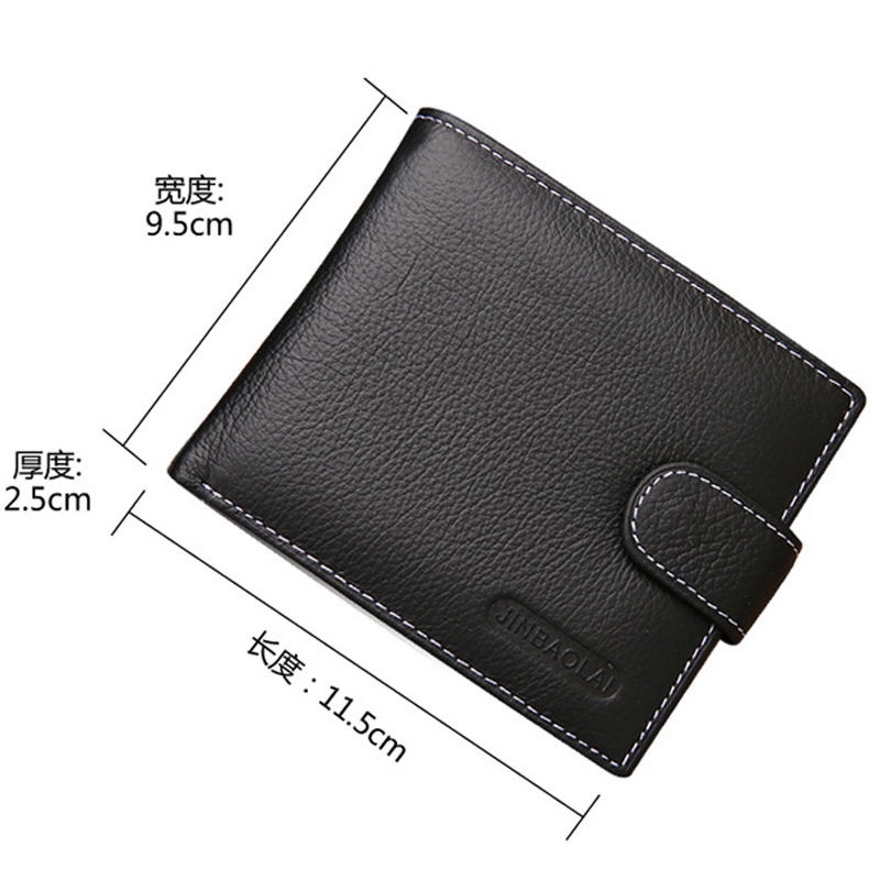 New Men/'s Boy/'s Classic Leather ID Cards Holder Bifold Wallet/'