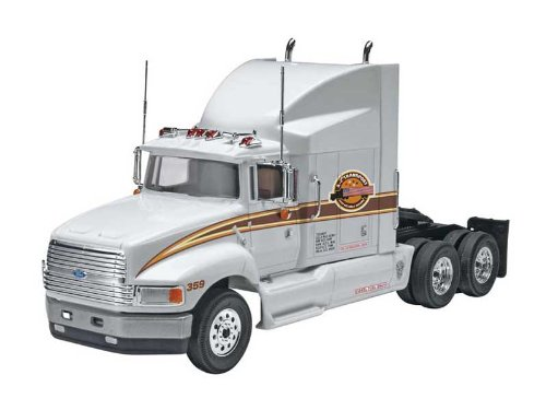Ford Aeromax Plastic Model Kit, Kit features an aerodynamic sleeper cab with a detailed... by
