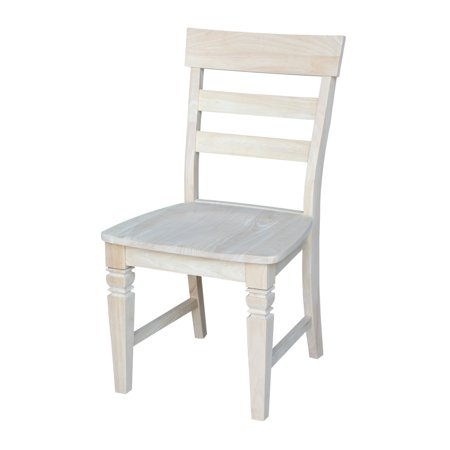 International Concepts C-19P Java Chair with Solid Wood Seat, Ready To Finish - International Concepts Solid Wood