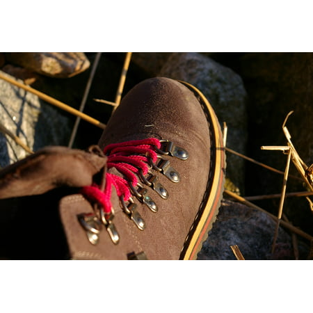 Peel-n-Stick Poster of Sole Trekking Shoe Hiking Shoes Shoelace Eyelets Poster 24x16 Adhesive Sticker Poster Print