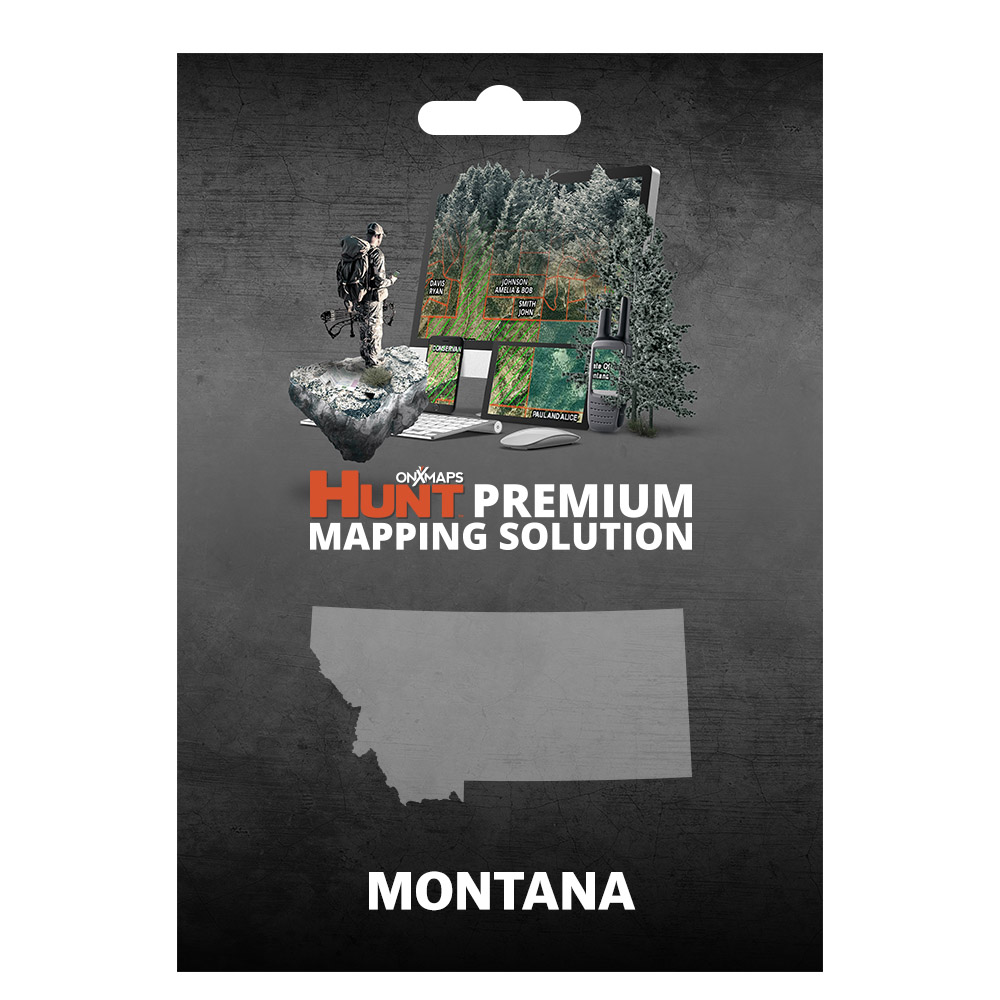 onXmaps HUNT Montana - GPS Map with Hunting/Land Owner Data for Garmin (MicroSD/SD Card), Smartphone, & Computer