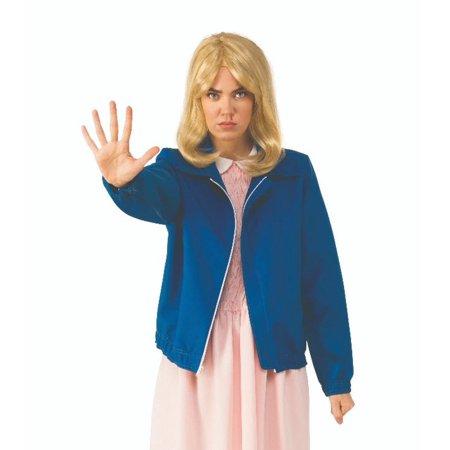 Adult Eleven's Blue Jacket Costume Stranger Things Halloween Costume Netflix