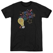 Electric Company Electric Light Mens Adult Heather Ringer Shirt