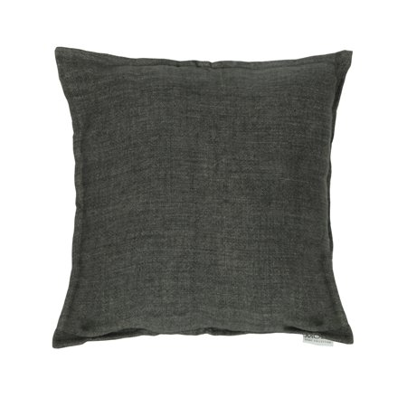 lemmy linen cushion with feather insert charcoal. Black Bedroom Furniture Sets. Home Design Ideas