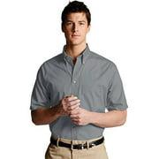 Ed Garments 1230 Men's Easy Care Short Sleeve Poplin Shirt - Titanium - X-Large