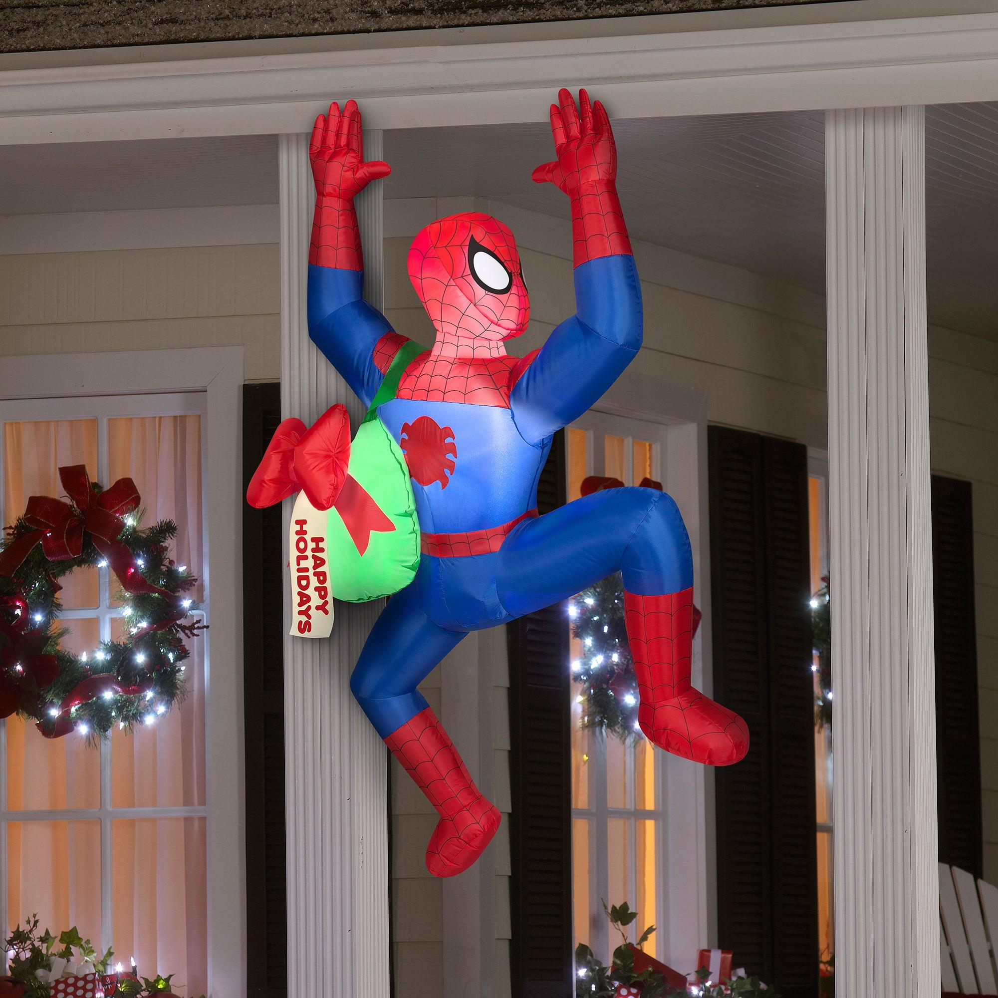 Airblown Inflatable 5' Spiderman Christmas Prop - Walmart.com