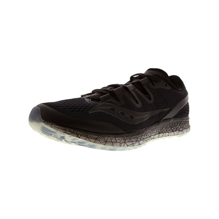 Saucony Women's Freedom Iso Black Ankle-High Mesh Running Shoe -