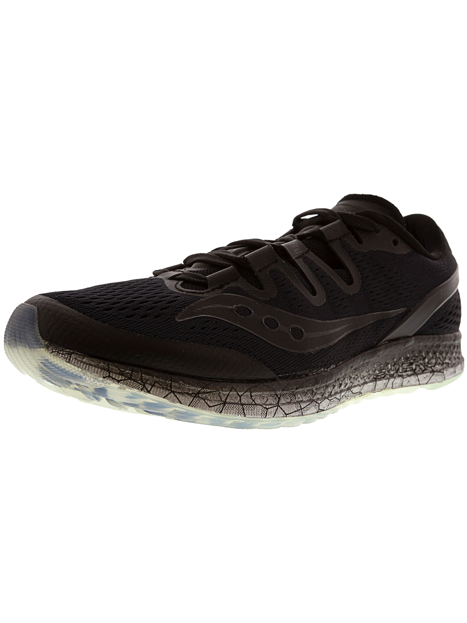 Saucony Women's Freedom Iso Black Ankle-High Mesh Running Shoe - 8.5M