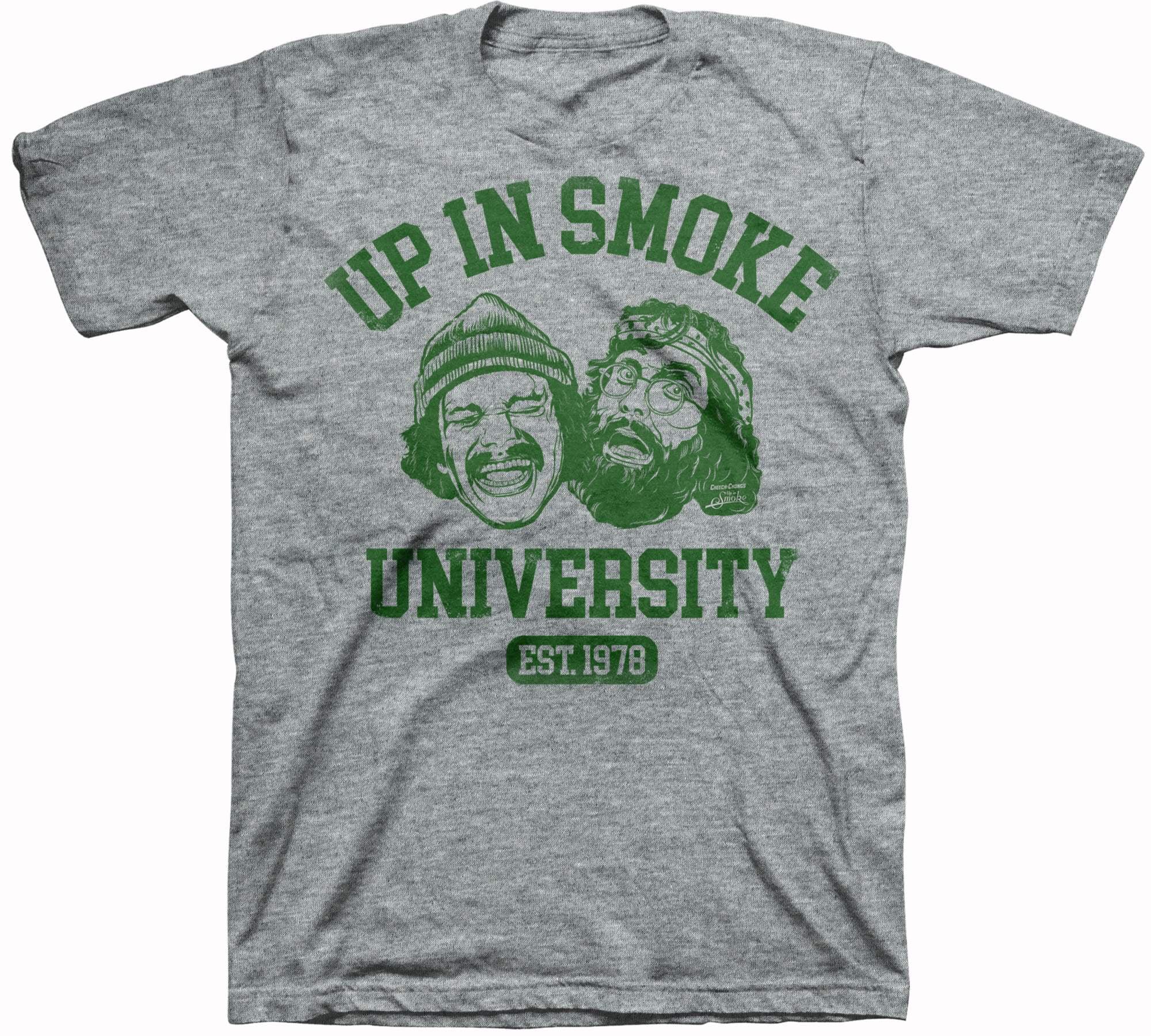 Cheech and Chong Men's Up In Smoke University Graphic T-shirt