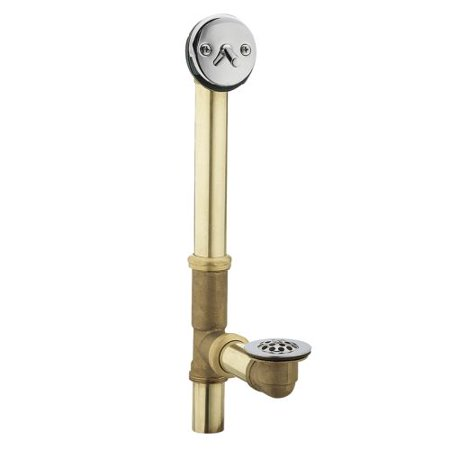 Moen 90410 Brass and Chrome Bath Overflow and Waste Assembly