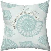 Checkerboard, Ltd Welcome to the Beach House Throw Pillow