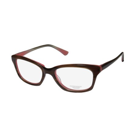 New Oliver Peoples Portia Womens/Ladies Designer Full-Rim Stripped Brown / Rose Elegant Hip Ophthalmic Frame Demo Lenses 49-17-135 (Oliver Peoples Manufacturer)