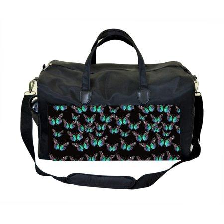 Jack Spade Luggage (Blue Butterfly Scatter-Jacks Outlet TM Weekender)