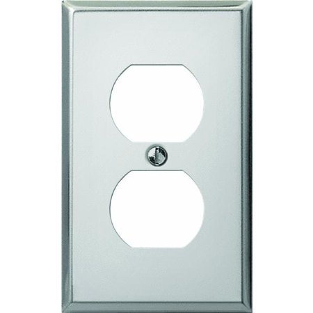 Pro-Polished Chrome Steel Duplex Outlet Wall Plate