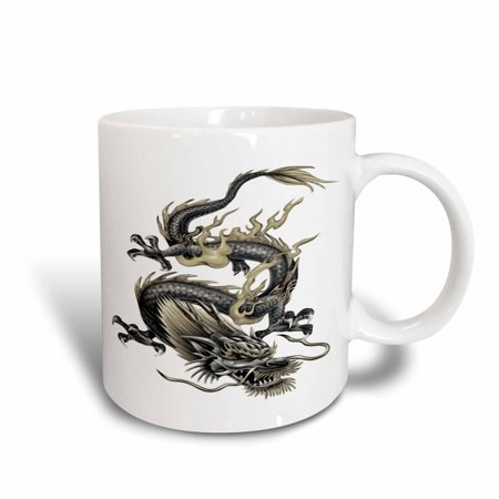 3dRose Lucky Dragon - dragon, chinese dragon, year of the dragon, chinese new year, gift idea, fathers day, Ceramic Mug, 11-ounce