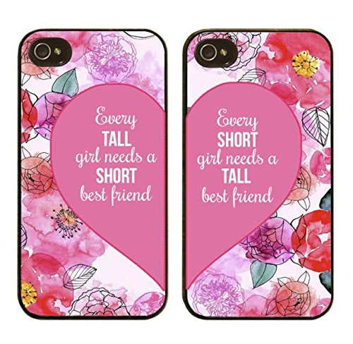 iPhone 5, Set of 2, BFF Best Friends Forever Lover Snap on Rubber