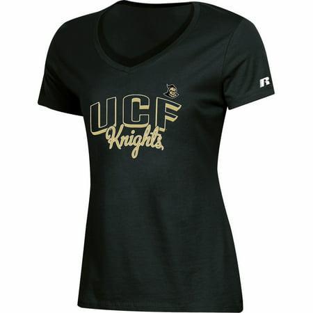 Women's Russell Black UCF Knights Arch V-Neck T-Shirt - Ucf Halloween