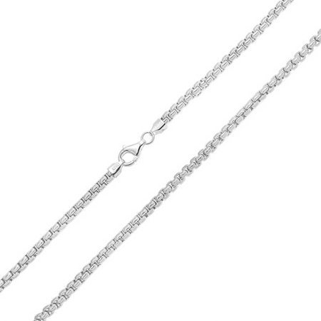 36 Heavy Gauge Chain (Mens 300 Gauge Sterling Silver Box Link)