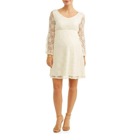 6d547a1a582fa Liz Lange Maternity - Maternity Flare Sleeve Lace Dress - Walmart.com