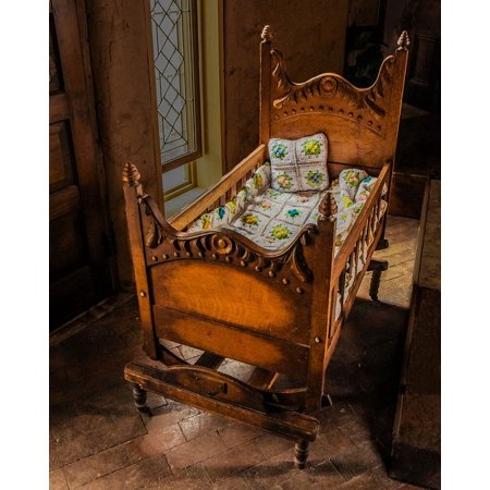 Canvas Print Baby Cradle Baby Crib Antique Baby Cradle Stretched Canvas 10 x 14