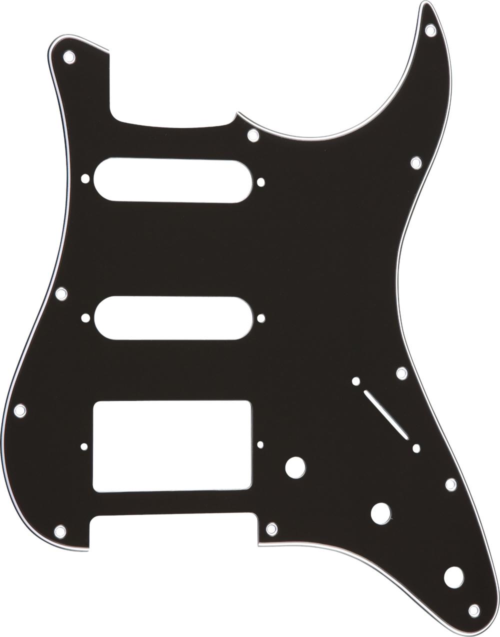 Proline S-Style Hum-Single-Single 3-Ply Pickguard Black by Proline