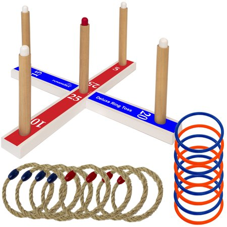Funsparks - Deluxe Ring Toss Game - Ring Toss Rings
