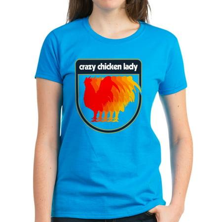 f2ac7750a CafePress - CafePress - Crazy Chicken Lady Women's Classic T Shirt - Women's  Dark T-Shirt - Walmart.com