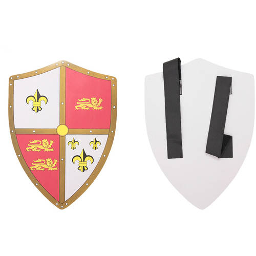 Hero's Edge Foam Shield with Red/White Coat of Arms, 24""