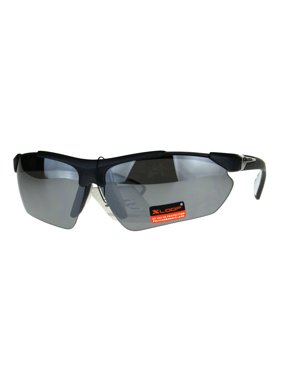dfd0584a524 Product Image Xloop Futuristic Baseball Half Rim Sports Mens Sunglasses  White Mirror