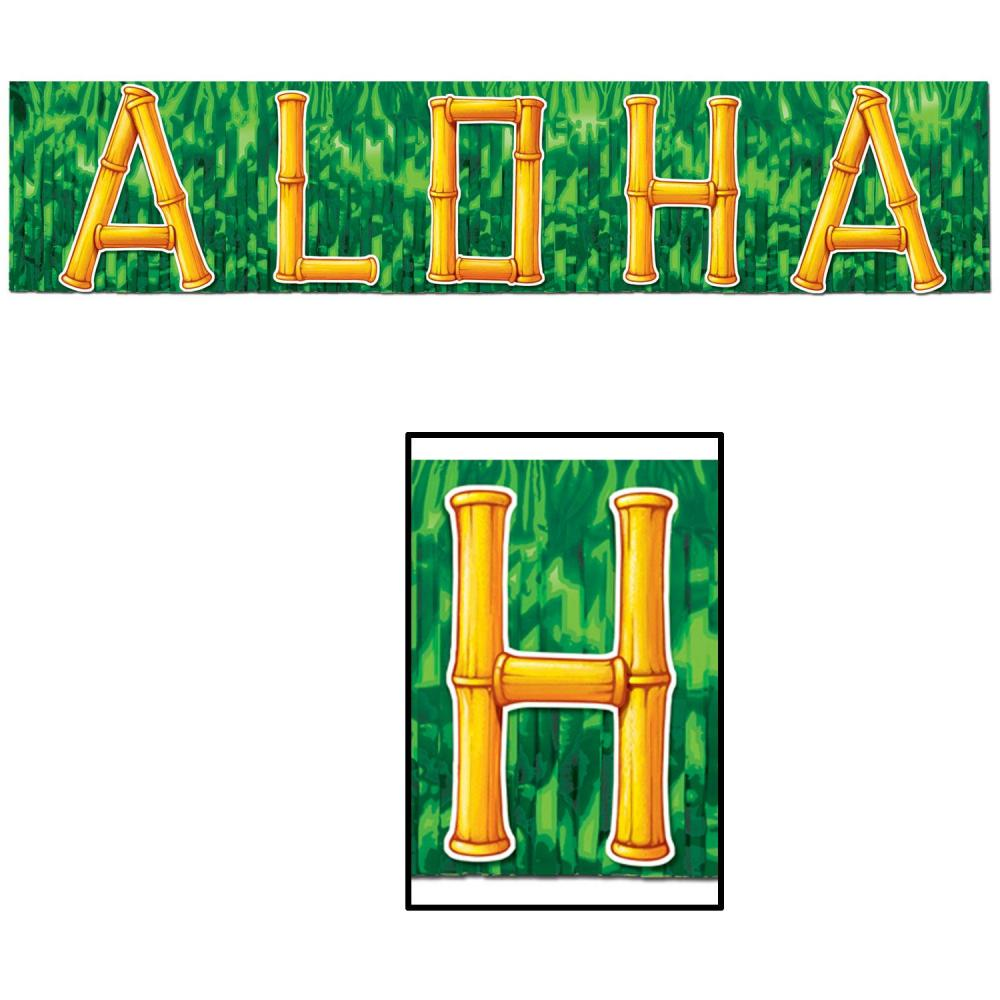 (Pack of 12) Luau Party Fire Resistant Aloha Banner