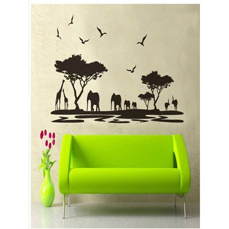 African Animals Removable Wall Stickers Art Decals Mural for Room Decor