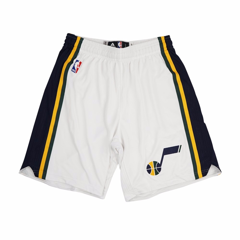 Utah Jazz NBA Adidas White Authentic On-Court Home Climalite Game Shorts For Men