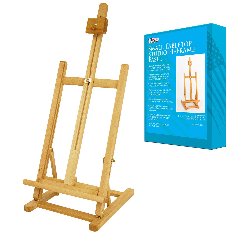 us art supply adjustable tabletop hframe wood studio artist easel painting walmartcom - Display Easel