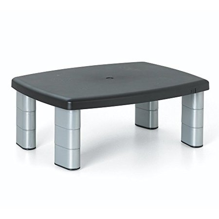 3m adjustable monitor stand, three leg segments simply adjust height from 1