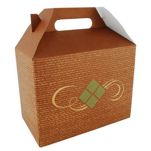 "Southern Champion Hearthstone Large Carry Out Barn Box, 8.875"" Length x 5"" Width x 6.75"" Depth, Clay Coated Kraft"