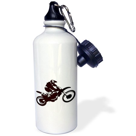 (3dRose Motocross- bike, off road,motorcross, motorcycle, motorx, radical, silhouette, tricks, Sports Water Bottle, 21oz)