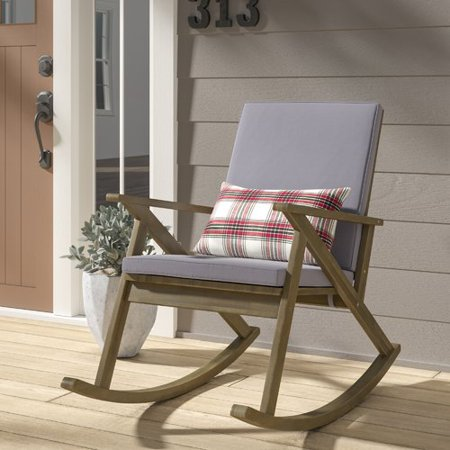 separation shoes a9d39 b80fa Union Rustic Ossu Outdoor Rocking Chair with Cushions