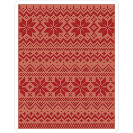 Sizzix Texture Fades A2 Embossing Folder Holiday Knit 2 By Tim