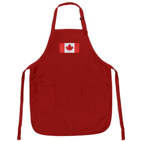 Canada Flag Apron Grilling Or Kitchen Canada Flag Design Aprons Famous Broad Bay Quality ()