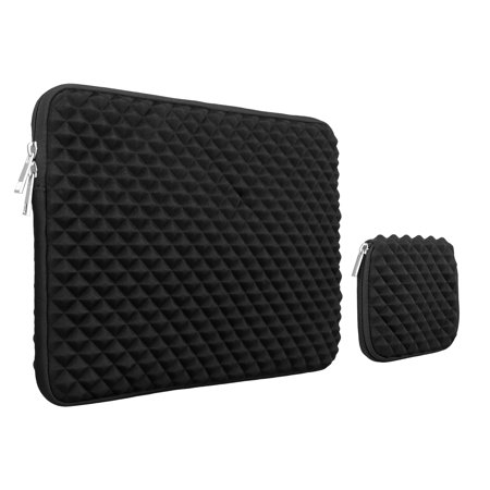 Laptop Sleeve Bag Case with Small Case, 13 -13.3 Inch Diamond Foam Splash & Shock Resistant Neoprene Universal Sleeve Zipper Case Bag for MacBook