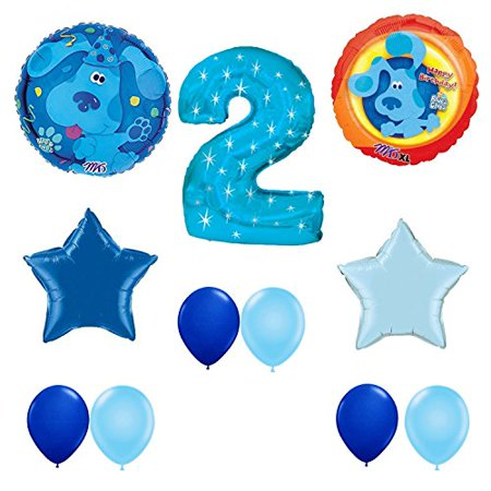 Blue's Clues  Party Supplies Happy 2nd Birthday Party Balloons Decoration Set Blues Clues Party Decorations