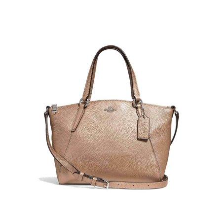 BRAND NEW WOMEN'S COACH (F29639) PLATINUM LEATHER MINI KELSEY SATCHEL - Leather Lined Mini Bag