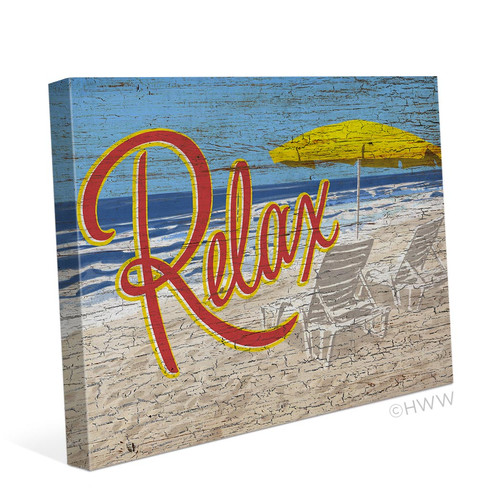 Click Wall Art Relax Graphic Art on Wrapped Canvas