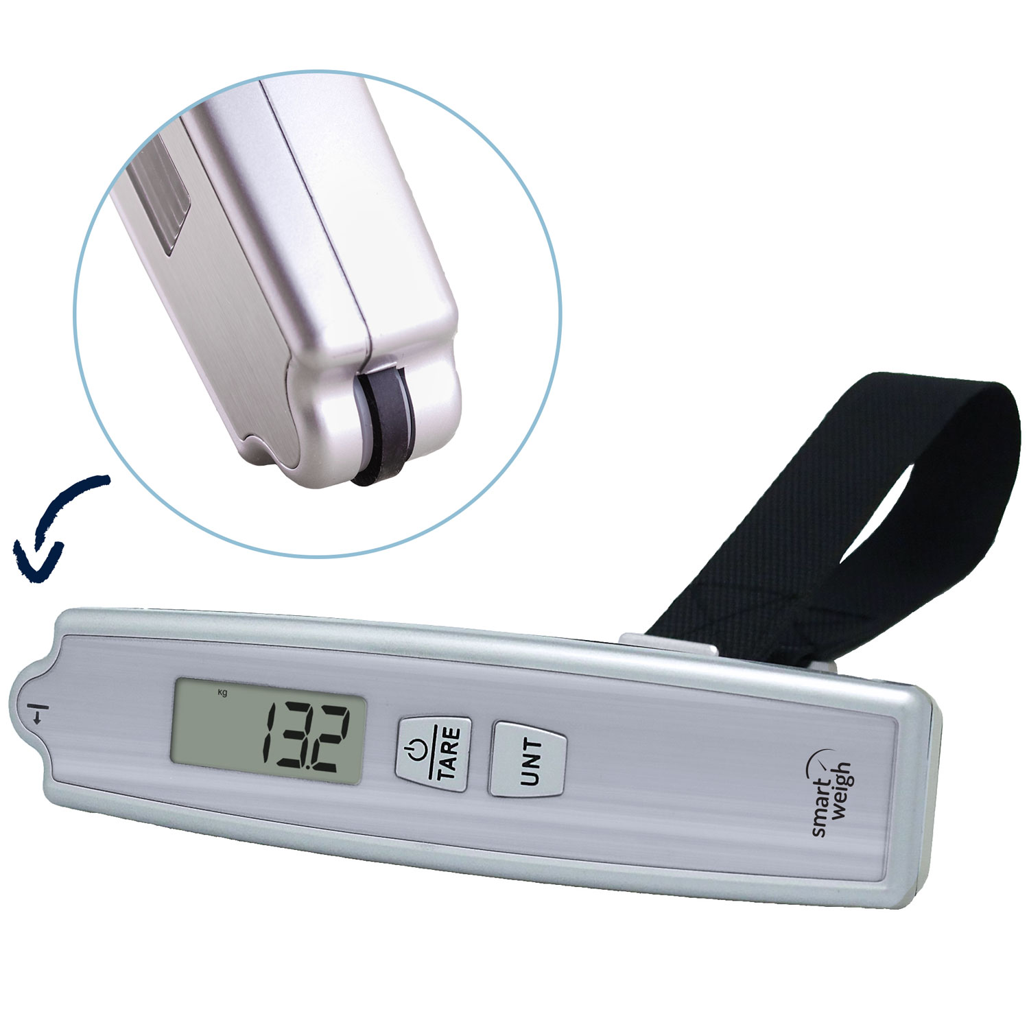 Smart Weigh Premium Digital Luggage Scale with Electronic Ruler 50kg/110lb