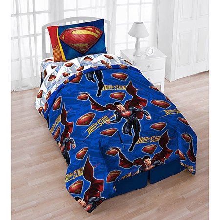 Superman 4-piece Twin Bedding Set With B