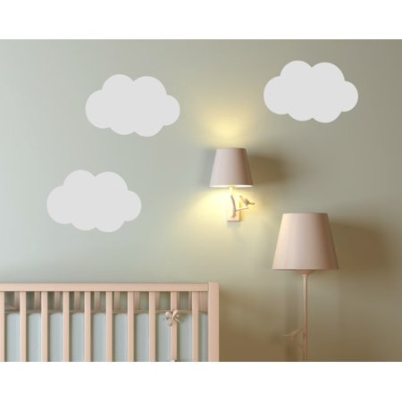 Nursery Wall Stickers Clouds Vinyl Art For Kids Room Decor 3pc 17 Inch Tumbleweed
