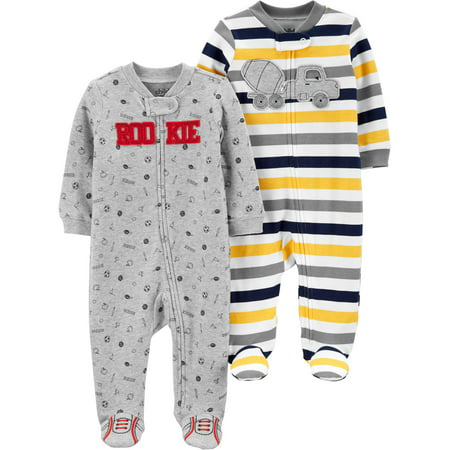 Child of Mine by Carter's Zip-up sleep n play pajamas, 2pk (baby