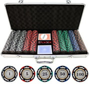 500 piece Z-Pro 13.5g Clay Poker Chips by